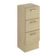 Bathroom 3-Drawer Base Unit Oak Slab 300 x 300 x 810mm