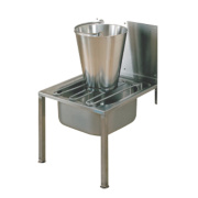 Franke Floor-Standing Bucket Sink w/Splashback S/Steel 1 Bowl 500 x 800mm