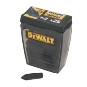 DeWalt 25mm Impact Screwdriver Bits PZ #2 Pack of 25