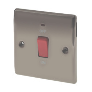 British General 45A 1-Gang DP Cooker Switch with Neon Black Nickel