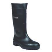 Dunlop. Protomastor 142PP Wellington Boots Black Size 8