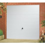 Unbranded Horizon 8' x 7' Frameless Steel Garage Door White