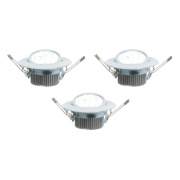 LAP Adjustable Downlight Integrated LED Chrome 4.5W 240V Pack of 3
