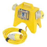 Carroll & Meynell Protected Splitter Distribution Unit 2 x 16A Outlets 110V