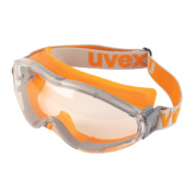 Uvex Ultrasonic Safety Goggles Orange Grey