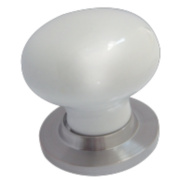 Jedo Frelan Victorian Rimmed Mortice Knob Pack White & Satin Chrome 60mm