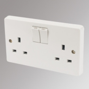 Crabtree 13A 2-Gang Double Pole Switched Socket