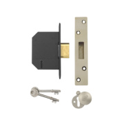 Yale 5 Lever Mortice Deadlock Polished Brass 2.5