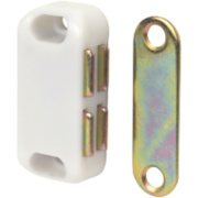 Magnetic Cabinet Catch White 42mm Pack of 10