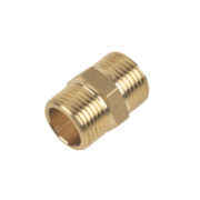 Brass Hexagon Nipple 3/8