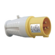 CED 110V 2-Pin + Earth Yellow Plug