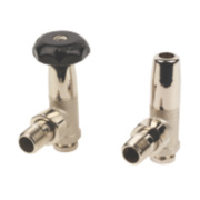 Winchester Nickel Plated Radiator Valve & Lockshield 15mm