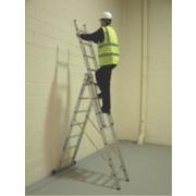 Zarges 41097 Aluminium Combination Ladder 3 x 7 Rungs 5m