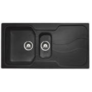 Astracast Sorrento 1½ Bowl Square Inset Sink w/Reversible Drainer Granite