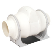 Xpelair XIM100+T 25W In-Line Bathroom Extractor Fan & Timer
