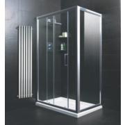 Rectangular Shower Enclosure Polished Silver 1180mm