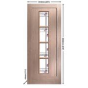 Jeld-Wen Lenzie 4-Light Glazed Exterior Door Oak Veneer 813 x 2032mm