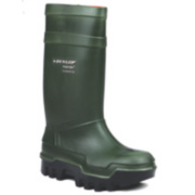 Dunlop. Purofort Thermo+ C662933 Safety Wellington Boots Green Size 10