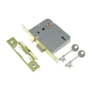 Century 3-Lever Mortice Sashlock Brass Plated 2.5