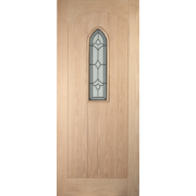 Jeld-Wen Fenchurch Single-Light Glazed Exterior Door Oak Veneer 813 x 2032mm