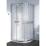 Aqualux Shine Quadrant Shower Enclosure Sliding Door Silver Effect 800mm