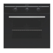 Indesit FIM 31 KAIX Single Built-In Electric Fan Oven Black 595 x 595mm