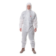 3M 4515 Type 5/6 Disposable Protective Coverall White Lge 39-43