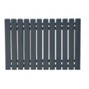 Erupto Square Horizontal Designer Radiator Anthracite 600 x 885mm 3495BTU