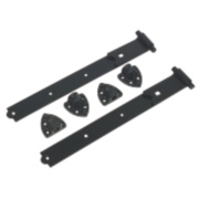 Gate Hinge Reversible Black 35 x 490 x 185mm