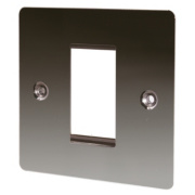 LAP 1-Gang Front Plate + Earth Black Nickel