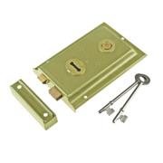 Century Rim Sash Lock Brass 150 x 100mm