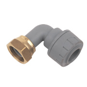 PolyPlumb Bent Tap Connector 15mm x ½