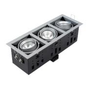Halolite Recessed Satin Silver 3-Light Spotlight 240V