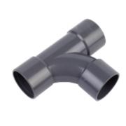 FloPlast Equal Tees Grey 40mm Pack of 3