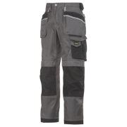 Snickers 3212 DuraTwill Trousers Grey/Black 33