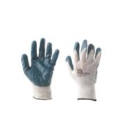 Nitrile-Coated Palm Gloves Blue Large