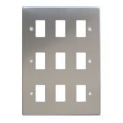 Varilight XDSPG9 9-Gang PowerGrid Faceplate Metal