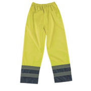 Hi-Vis 2-Tone Trousers Elasticated Waist Yellow/Navy XL 27½-48