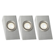 LAP Wedge Downlight Kit Brushed Chrome Pack of 3