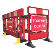 JSP Footway Closure Barrier Red / White