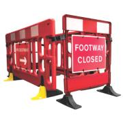 JSP Footway Closure Barrier Red / White