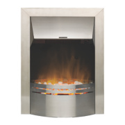 Dimplex Dakota Contemporary Inset Electric Fire Brushed stainless steel 2kW