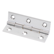 Solid Drawn Brass Hinge Polished Chrome 76 x 40mm Pack of 20