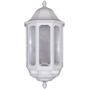 ASD 60W White Slave Half Lantern Wall Light PIR Included