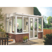 Unbranded T1 Traditional uPVC Conservatory White 2.35 x 1.26 x 2.31m