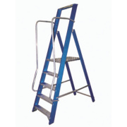 Lyte Widestep Platform Step Ladder Fibreglass 5 Treads 2.05m