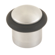 Cylinder Cylinder Door Stop Satin Chrome