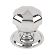 Octagonal Centre Door Knob Polished Chrome mm