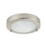 Portal Bathroom Ceiling Light Brushed Chrome G9 25W