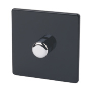 Varilight 1-Gang 1/2 W Jet Black Push Dimmer 1 x 400W